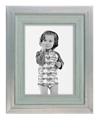 Blue & Silver Frame