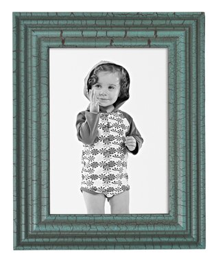 Green Intentionally-Distressed Frame