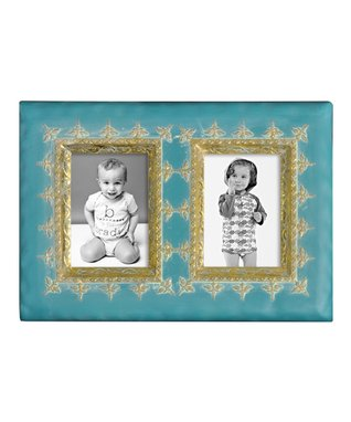 Teal Two-Picture Frame