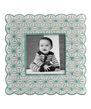 White & Green Frame