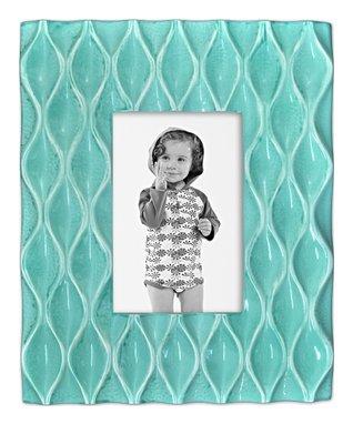 Aqua Diamond Pattern Frame