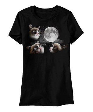 Black Grumpy Cat Moon Tee - Men