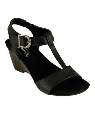 Lena Luisa Black Lahoma T-Strap Sandal