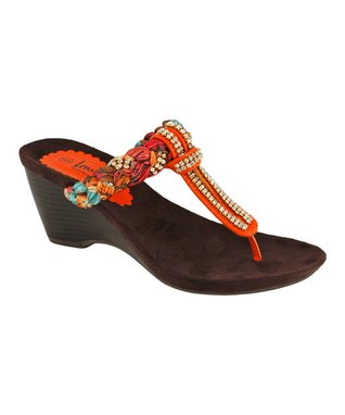 Lena Luisa Orange Boho Mia Sandal