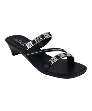 Agape Black Crisscross Ideal Sandal
