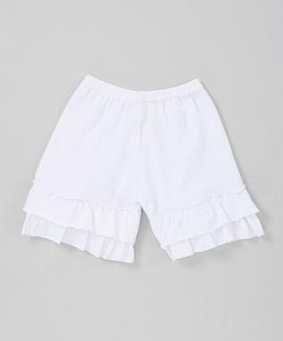 White Ruffle Shorts - Infant, Toddler & Girls
