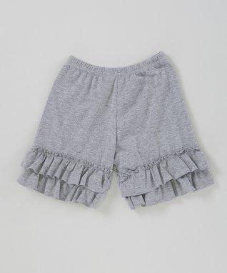 Gray Ruffle Shorts - Infant, Toddler & Girls