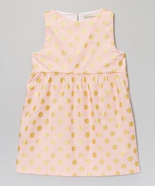 Aqua Ana Angel-Sleeve Dress - Toddler & Girls