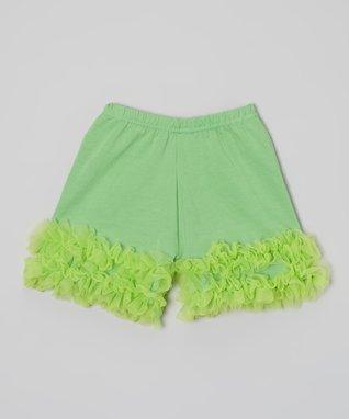 Pink & Green Floral Ruffle Dress - Girls