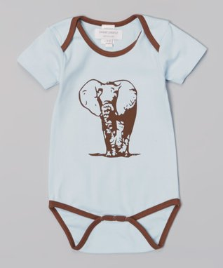 My O Baby Blue & Red Animal Organic Footie & Beanie - Infant