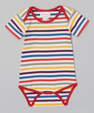 Tumblewalla Orange Elephant Organic Layered Dress - Infant