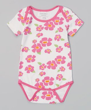 Sweet Peanut Purple & Yellow Stripe Organic Bodysuit - Infant