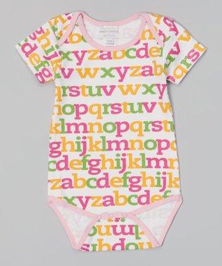 Sweet Peanut Pink & White Spring Flowers Organic Bodysuit - Infant