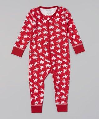 Sweet Peanut Red Cowboy Organic Playsuit - Infant