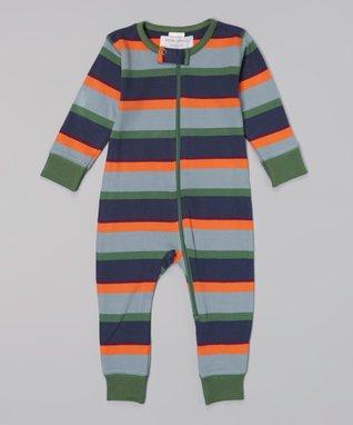 Sweet Peanut White & Yellow Stripe Organic Bodysuit - Infant