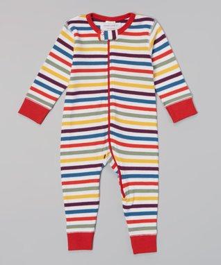 Sweet Peanut Navy & White Stripe Organic Bodysuit - Infant