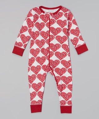 My O Baby Hot Pink Hugs Organic Tee & Floral Leggings - Infant