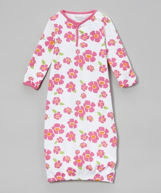 Sweet Peanut Blue & Green Working Machines Organic Gown - Infant