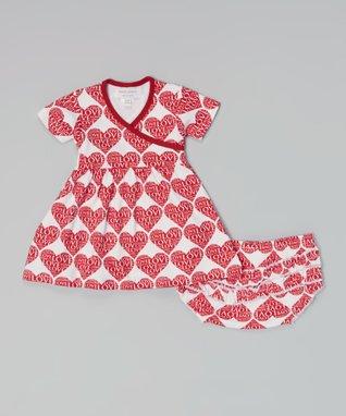 My O Baby Pink Bird Organic Footie & Beanie - Infant