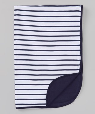 Sweet Peanut Navy & White Stripe Organic Gown - Infant