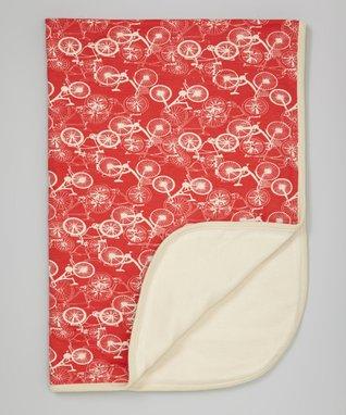 Sweet Peanut Red & White Hearts Organic Bodysuit - Infant
