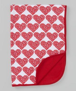 Sweet Peanut Pink Alphabet Organic Receiving Blanket