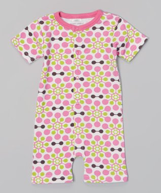 Sweet Peanut Pink Alphabet Organic Playsuit - Infant