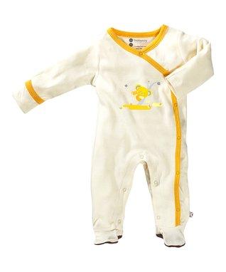 babysoy White & Yellow Koala Organic Footie - Infant