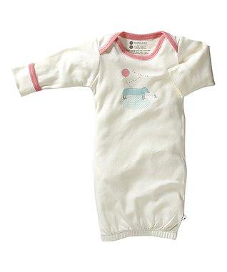 Sweet Peanut Purple & Yellow Stripe Organic Romper - Infant