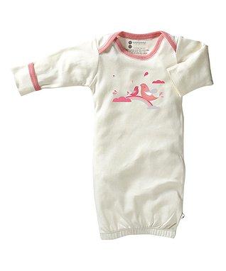 babysoy White & Brown Koala Organic Gown - Infant