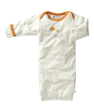 babysoy White & Red Penguin Organic Gown - Infant