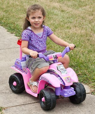 Lil' Rider Pink & Purple Princess Electric ATV Ride-On