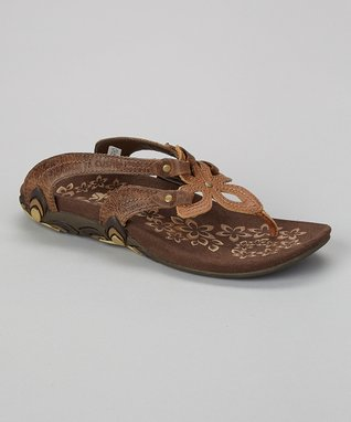 Brown Shasta Leather Sandal