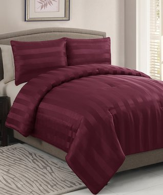 Chocolate Dobby Comforter Set