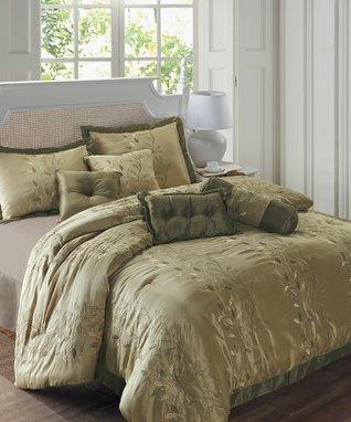 Red Dobby Comforter Set