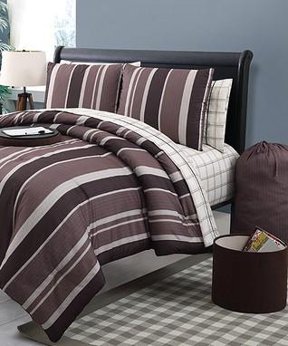 Black & Blue Daria Comforter Set