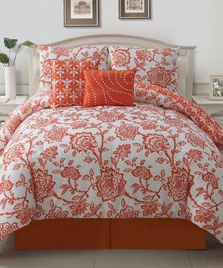 Orange Jordin Comforter Set