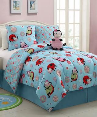Lola Ladybug Reversible Comforter Set