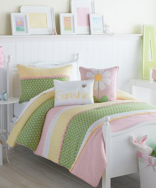 Pink Lazy Daisy Comforter Set