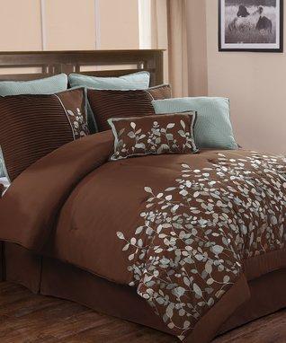 Taupe & Green Ellie Comforter Set