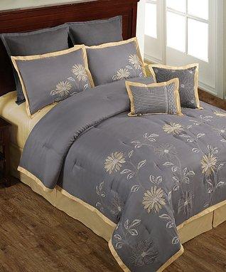 Black & White Adrienne Comforter Set