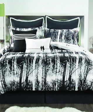 Black & White Woodland Comforter Set