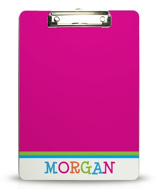 Pink Funky Personalized Clipboard