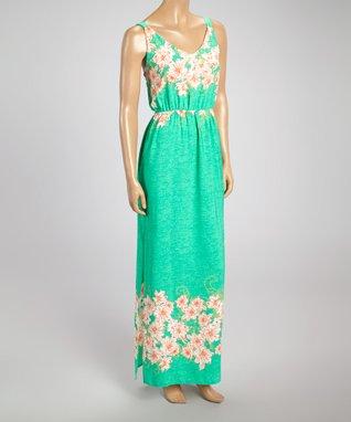 Blue & Pink Crocheted-Trim Sleeveless Dress
