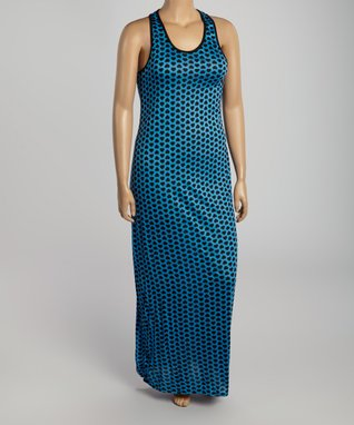 Royal Blue Heart Racerback Maxi Dress - Plus