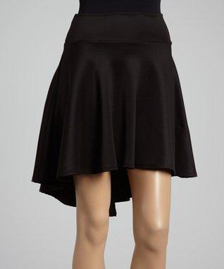 Black Hi-Low Skirt