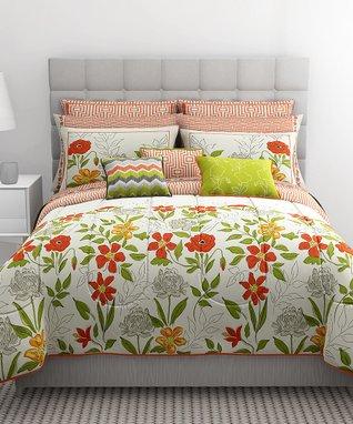 Watercolor Floral 10-Piece Bedding Set
