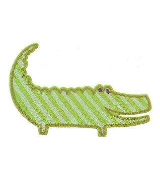 Alligator-Shaped Rug