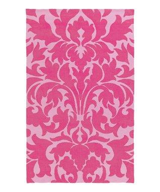 Pink Damask Abigail Rug