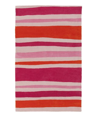 Red & Pink Fusion Stripe Abigail Rug